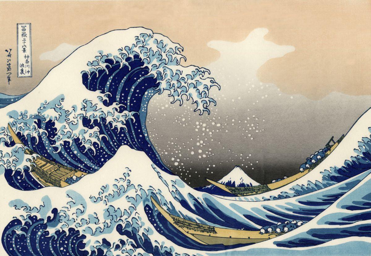 Japan Algemeen Kunst The Great Wave Off Kanagawa