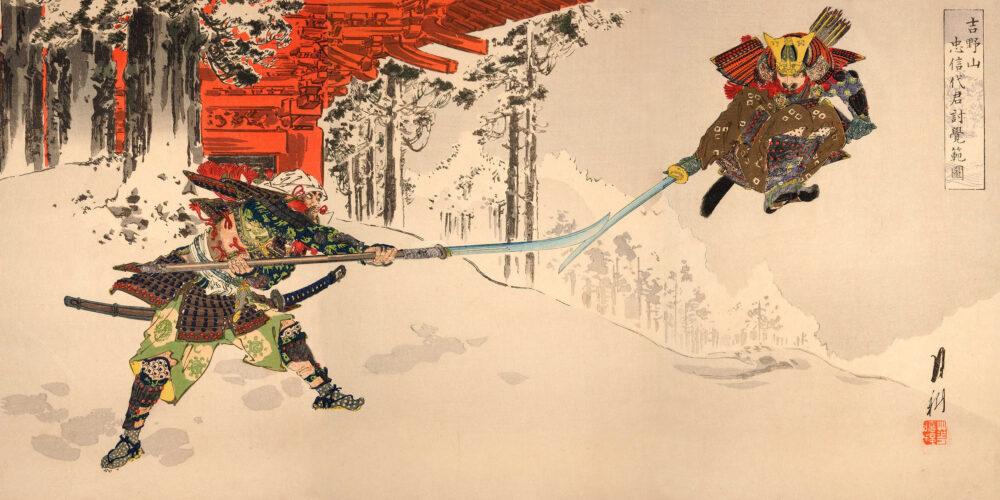 Gevecht in de sneeuw