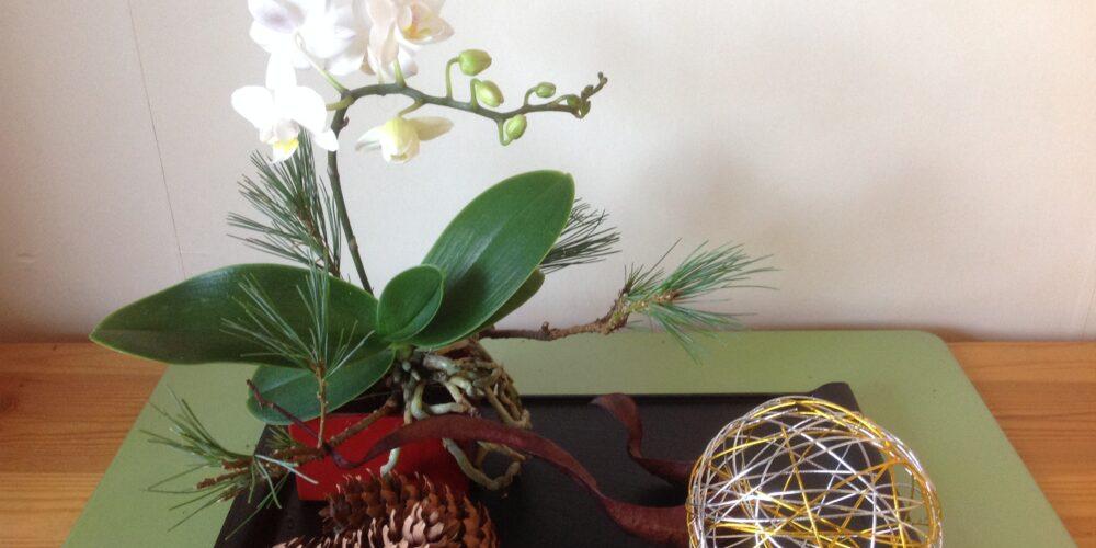 Kerst Ikebana