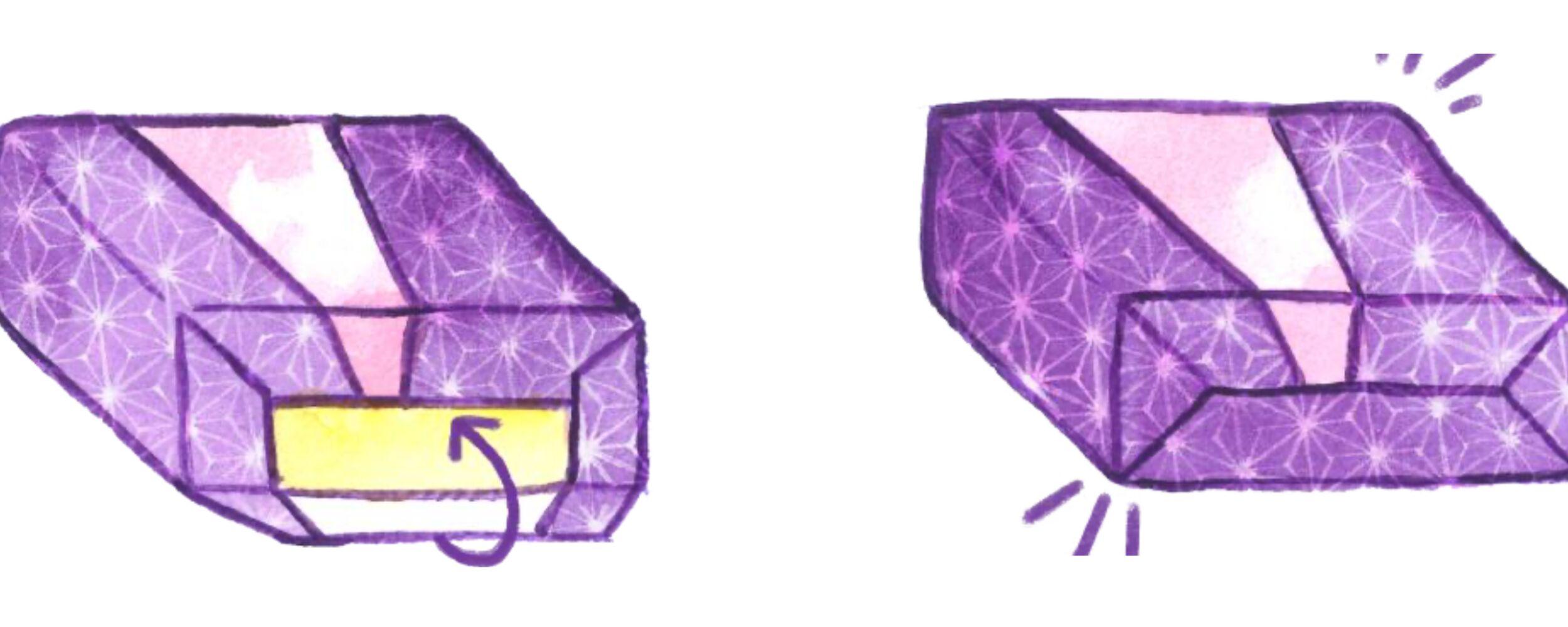 Tweekleurig inpakken
