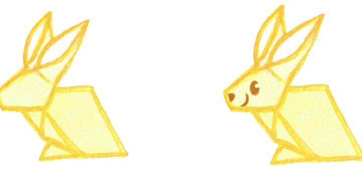 Konijn origami