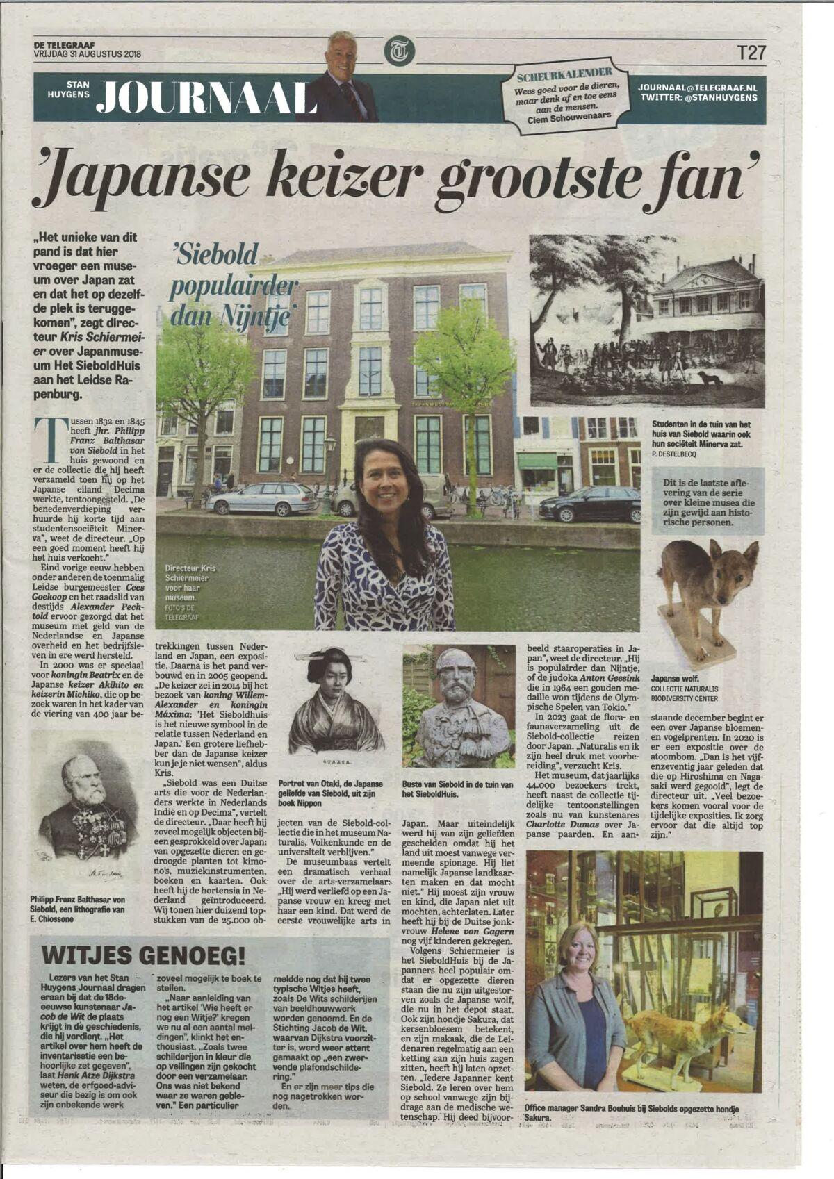 Telegraaf 31 Augustus 2018