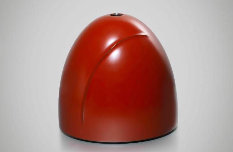 Bolle vaas met boogvormige streep Zenni studio
